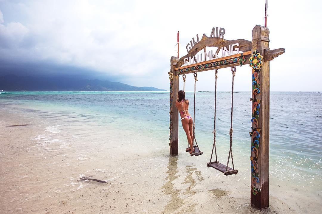 Swing at Gili Air in Indonesia
