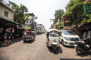 Tuk tuks/Road in Bangkok